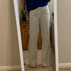 Gap white trousers with side button detail
